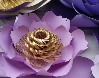 Paper Flower Center SVG Cut files - Loppy & Fringed  Paper Flower Center Pattern, DIY Paper Flower.