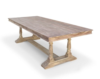 Dining Table, Reclaimed Wood, Kitchen Table, Trestle Table, Handemade, Rustic