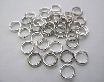 Set of 50 6mm silver jump rings