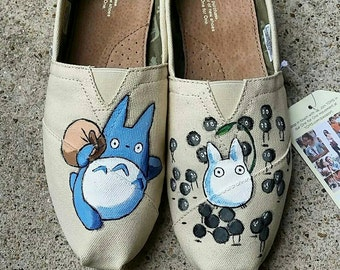 Hand Painted Totoro Toms