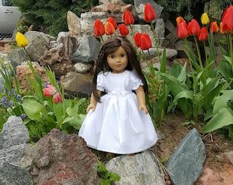 Baptism Doll Dress,  Confirmation doll Dress, white doll dress, doll wedding dress, First Communion Doll Dress