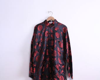 Chinese Brocade Silky Blouse