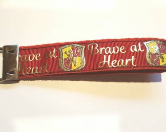 Brave at Heart Keychain