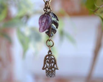 Hamsa keychain keyring bag charm keychains purse good luck spiritual bronze Charms boho bohemian chakra fatima hand kabbalah cute gift