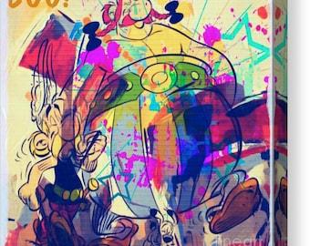 Asterix and Obelix Comic Painting/XXLPainting/Quadrat/Idefix/Comic/Graffiti/Urban/Print/Decorative/Portrait/PopArt/StreetArt/Metal/CanvasXXL