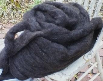 Purely Shetland, 100% Shetland Wool Roving-Black Ewe