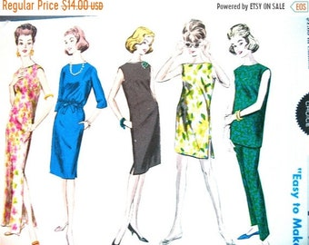 SALE 20% OFF Uncut Early 60s Vintage Vogue Special Design 5881 Tunic, Pants and Shorts Sheath Dress Vintage Sewing Pattern  bust 32 inches