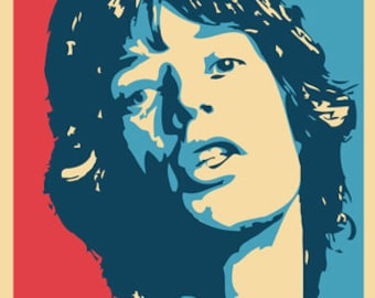 rolling stones Mick Jagger Poster Pop Art Rare Hot New 24x36