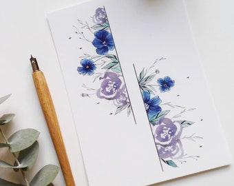 illustration card - flower power
