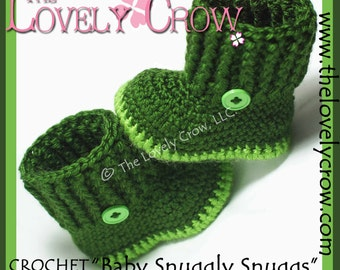Baby Booties Crochet Pattern BABY SNUGGLY SNUGGS digital