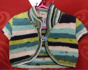 Hand knitted bolero, knitted to fit a little girl aged 1-2 years old
