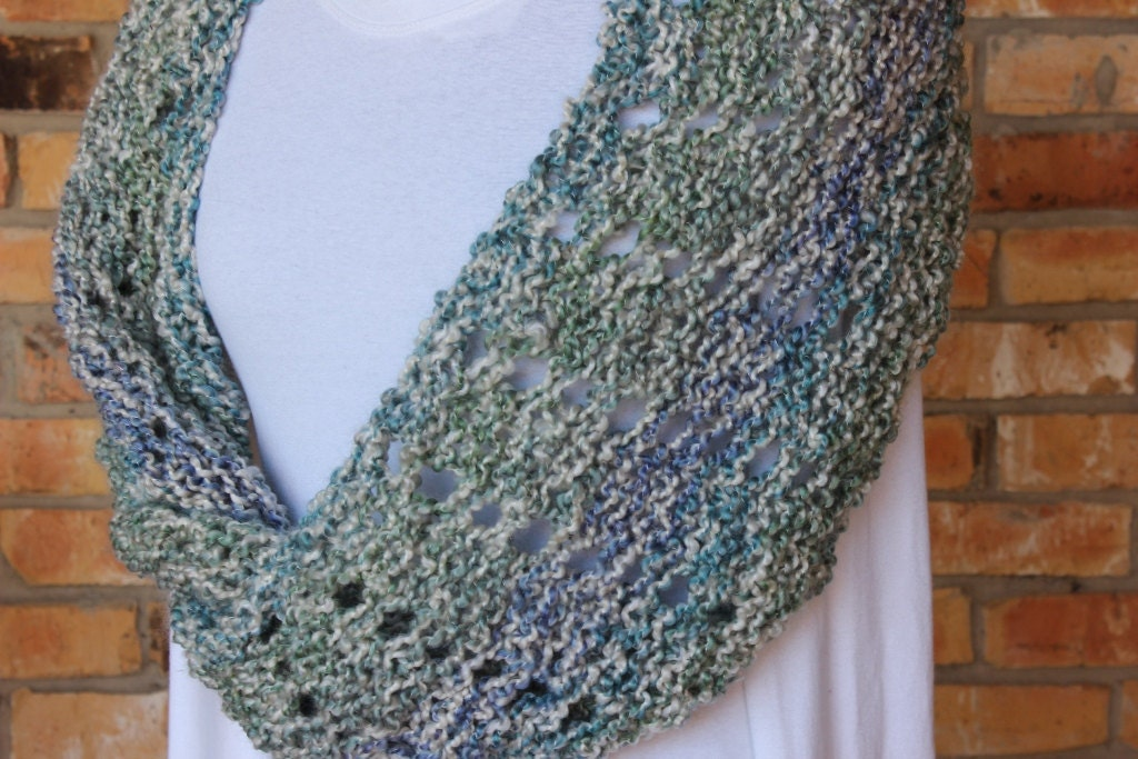 Mobius Knit Cowl Pattern Knitting Pattern For Homespun Yarn