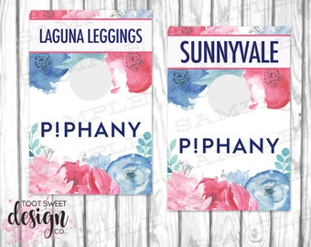 Piphany Rack Cards, Piphany Hanging Dividers, Piphany Clothing Style Names for Clothes Racks, Hanger Tags, Blue Watercolor, INSTANT DOWNLOAD