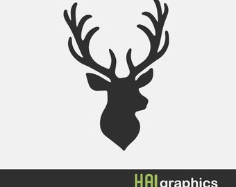 deer head clipart etsy rh etsy com deer head clipart vector free download deer head clip art with shotguns