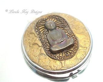 Buddha Mirror Compact Buddha Art Purse Mirror Lorelie Kay Original
