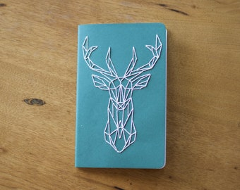 Large Moleskine Journal with Elk Embroidery