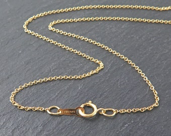 18 Inch 14K Gold Filled Cable Chain Necklace