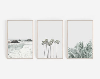 Set of 3 Prints,Prints,Wall Art,Wall Decor,Digital Download,Home Decor,Large Wall Art,Beach Print,Palm Trees Print,Set of Prints,Art Prints