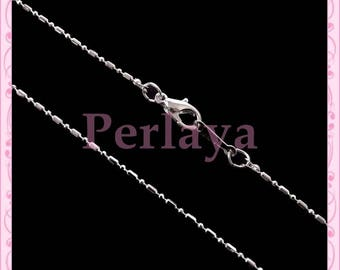 Set of 5 Silver 1.5 ball chain Choker necklaces mm REF382