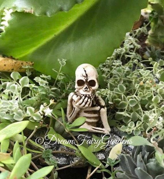 fairy garden skeleton miniature halloween skeleton miniature