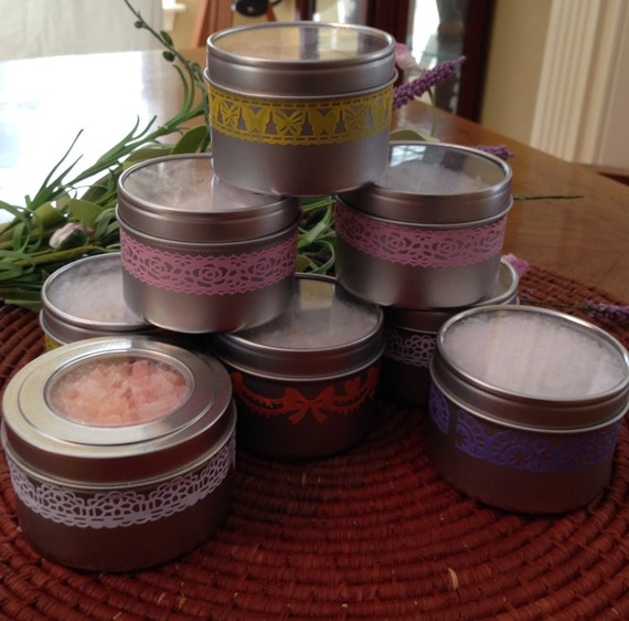 All Natural and Vegan Bath Salts, Choose Scent and Salt