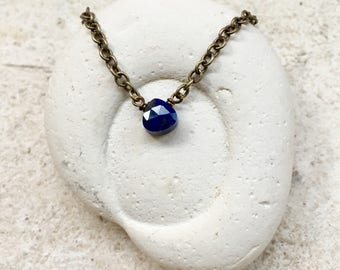 Lapis Lazuli Necklace, Third Eye Chakra Gemstone Necklace, Throat Chakra Gemstone Necklace, Healing Crystal Necklace