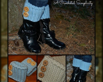 Crochet Pattern: Ribbed Boot Cuffs, Toddler thru Adult Large, Permission to Sell Finished Items
