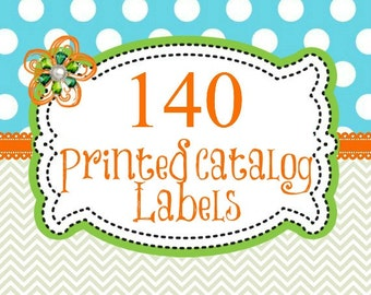 140 Professionally Printed Catalog Labels, Direct Sales Printed labels, Company Marketing
