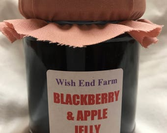 Blackberry & Apple Jelly Homemade 200g (7oz) Jar, Food Gifts, Birthday Gift, No Artificial Preservatives, Teacher Gift, Hostess Gift