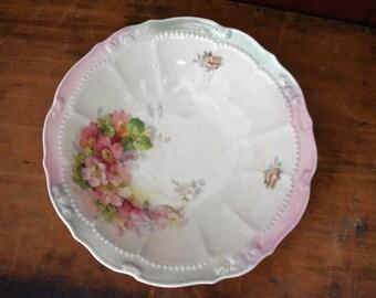 Vintage Serving Bowl - German Serving Bowl - Floral Serving Bowl