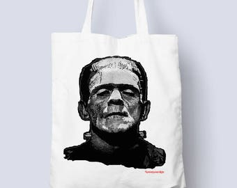 Frankenstein Tote bag for all those horror occasions (horror,monster tote bag,gift for him,gift for her)
