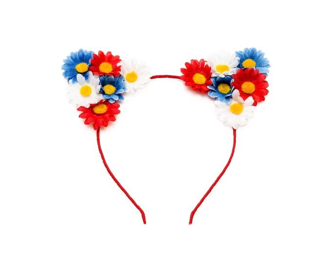 Patriotic Cat Ear Headband
