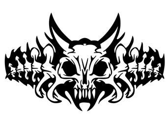 Skull Vinyl Decal - Skull Decal - Laptop Sticker - Laptop Decal - Skull Car Decal - Skull Wall Decal - Skull Wall Art - Skull Vinyl Sticker