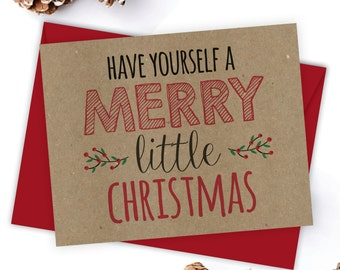 Snarky holiday card etsy christmas card holiday card kraft card m4hsunfo
