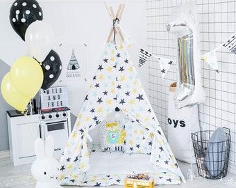 Tipi Enfant, Tipi, Teepee, Kids Teepee, Teepee tent, Tipi Pour Enfant, Childrens Teepee, Tipi Tent, Teepee Tent Kids, Teepee With Mat
