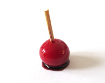 1 x Apple love handcrafted Miniature - S - 15mm approx.
