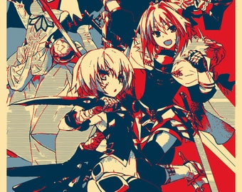 "Poster ""Propaganda"" Fate Apocrypha - Black Faction"