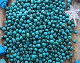 Tiger Turquoise Blue, Real Natural Acai Beads, Acai Seeds, Organic Beads, Natural Seeds, South American, {Pick your qty}