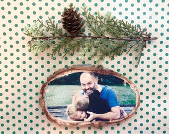 Wood Photo Plaque