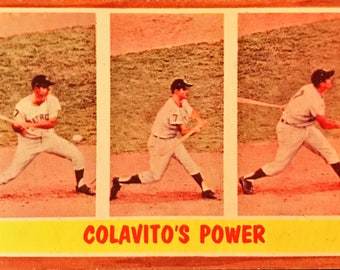 1962 Topps Rocky Colavito #314 Tigers Awesome Card