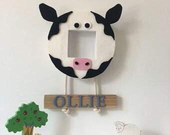 Childern's farm animal picture frame or mirror