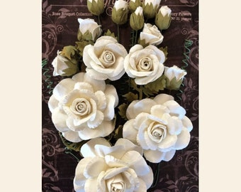 In Stock-Graphic 45 Rose Bouquet Collection - Ivory Flowers