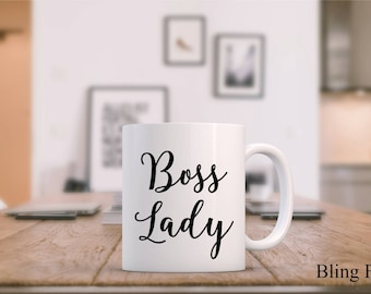 Boss Lady Mug, Boss Lady Mugs, Boss Lady Coffee Mug, Girl Boss Mug, Boss Mug, Cute Boss Lady Mug, Boss Lady Gift,  Funny Boss Lady Mug