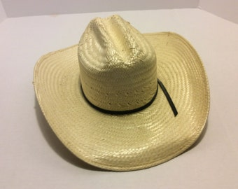 Vintage American Hat Company Cowboy Straw Hat, Country Western Hat, Conroe Texas