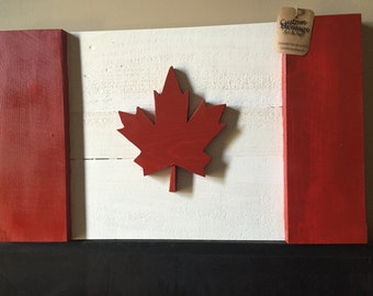 Wood Flag, Wooden Flag, Wooden Canadian Flag, Wood Canadian Flag, Canadian Flag, Canada