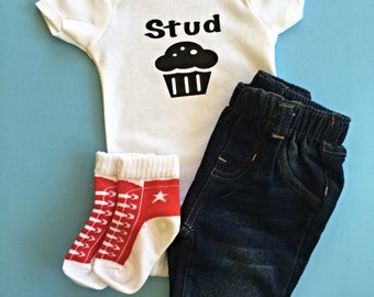 Stud Muffin Baby Onesies® brand by Gerber®
