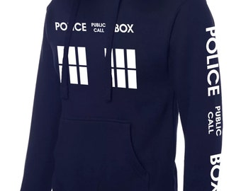 Funny inspired Dr who Police public call box hoodies sweatshirt