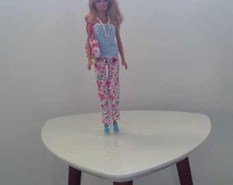 Handmade pants and top for Barbie