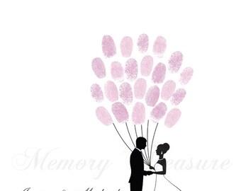 Wedding Thumbprint Guestbook Wedding Finger print Guestbook Tree Guestbook Fingerprint Tree Wedding Thumbprint Guestbook Wedding Guestbook