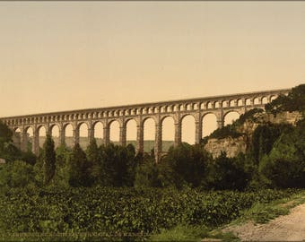 Poster, Many Sizes Available; Roquefavour Aqueduct, Marseilles Canal, France 1890